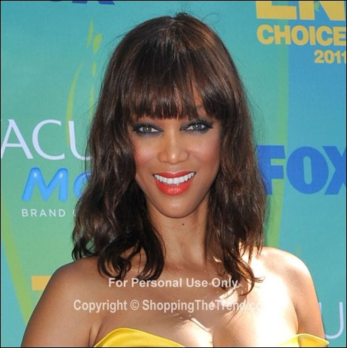 Tyra Banks Teenager: Tyra Banks Hairstyle @ 2011 Teen Choice Awards