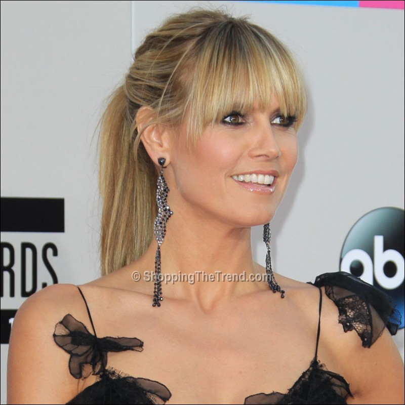 heidi klum hairstyle chic ponytail at american music awards 2013. Black Bedroom Furniture Sets. Home Design Ideas