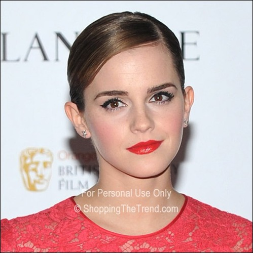 combed hairstyles : Emma Watson hairstyle @ Lancomes pre-BAFTA cocktail party